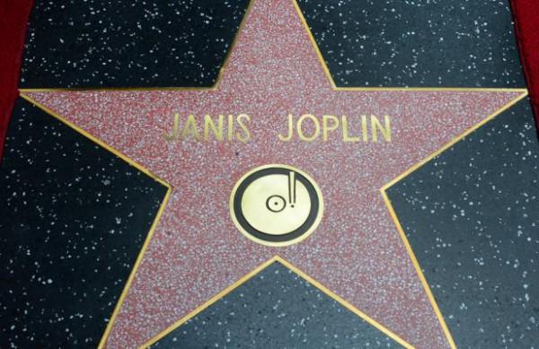 janis joplin, étoile, walk of fame