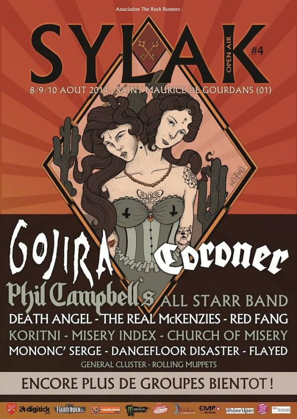 Sylak Open Air Festival 2014, affiche