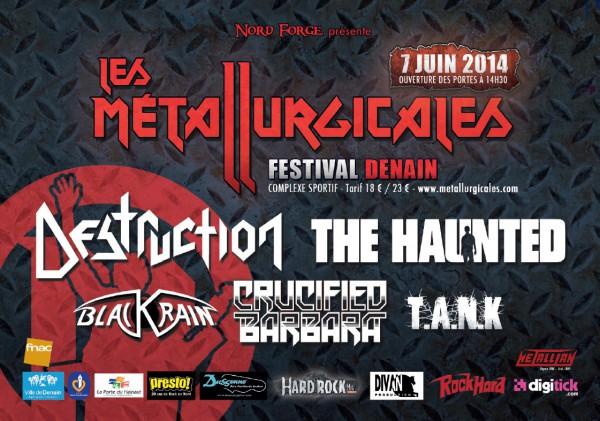 Metallurgicales, Denain, Nord, Metal, Festival, Patrick Roy, Destruction, T.A.N.K