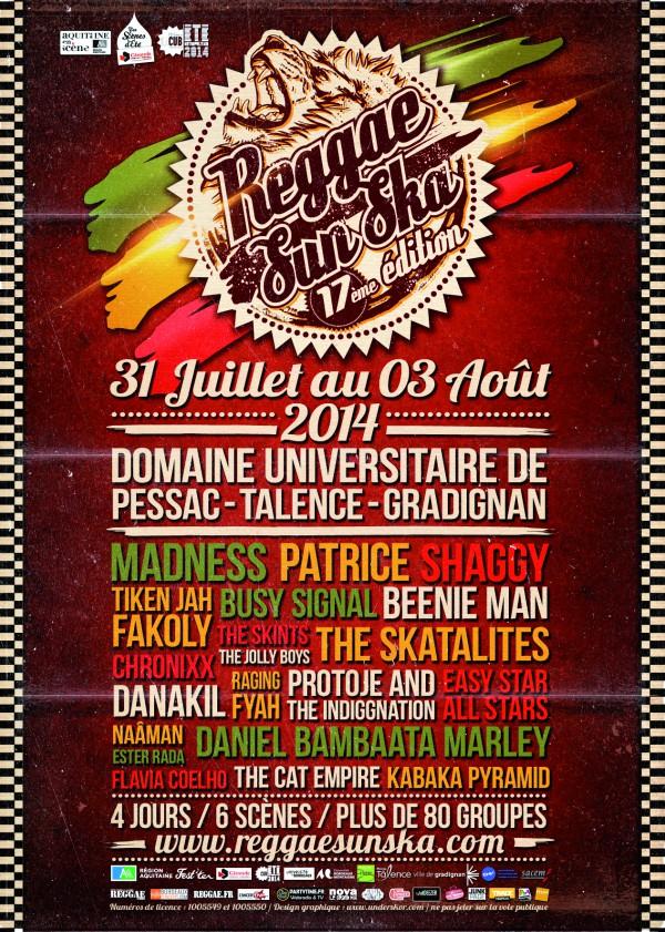 Reggae Sun Ska 2014 du 31 Juillet au 3 Août