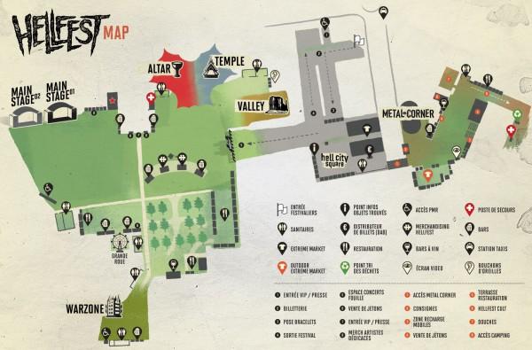 Hellfest 2014 map
