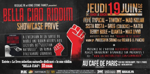 BELLA CIAO RIDDIM - 19 Juin - Paris