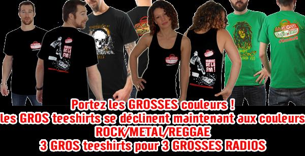 Tee Shirts La Grosse Radio - En vente ici - Marre de la FM