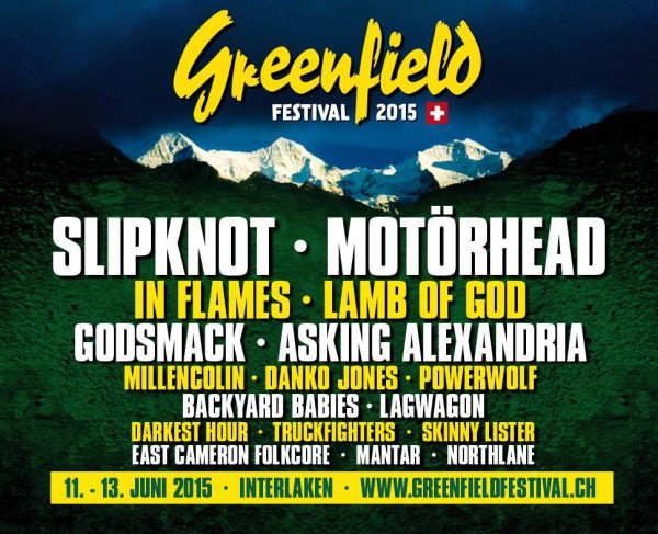 Greenfield festival, 2015, affiche, suisse