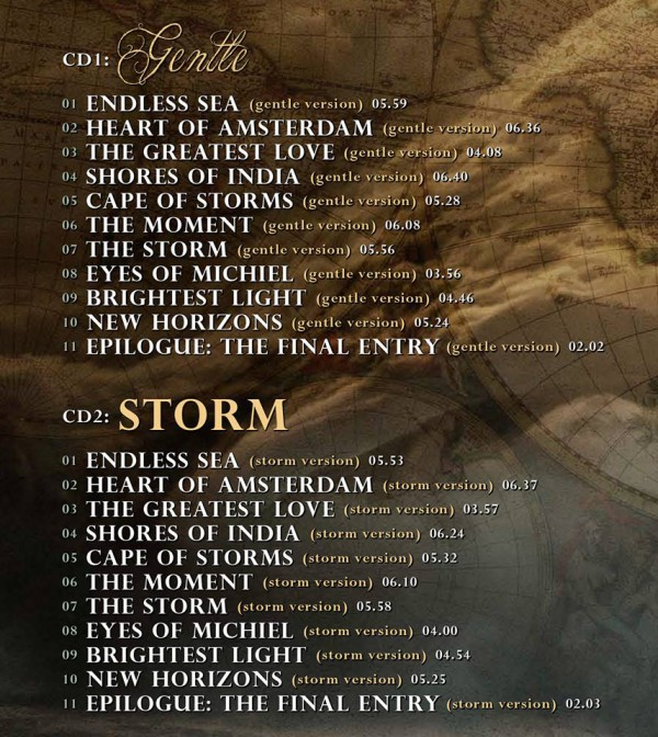 The Gentle Storm Diary tracklist