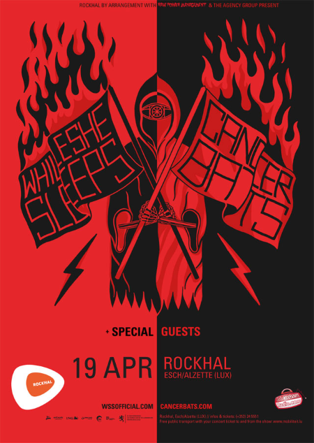 While She Sleeps Cancer Bats 19 avril La Rockhal