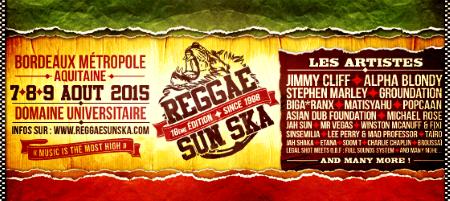 Reggae Sun Ska 2015 banniere