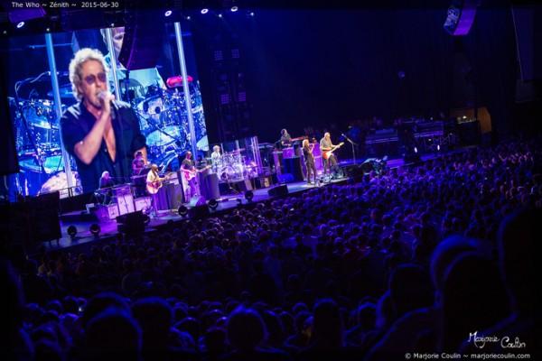 the who, live report, zenith, paris, 2015