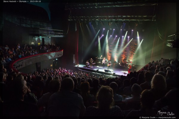 Olympia, Steve Hackett, Genesis, Live report