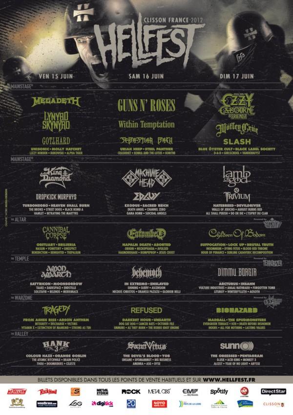 Hellfest affiche 2012
