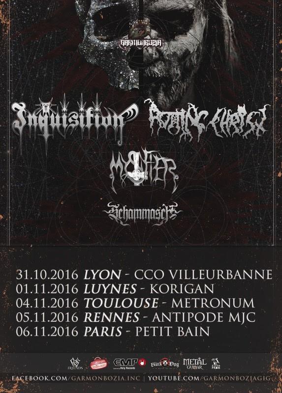 inquisition, rotting christ, Mystifier, schammasch, concerts, black metal, france