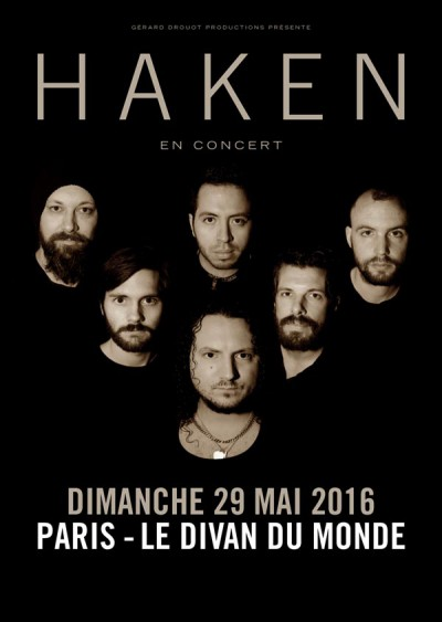 Haken, Divan du Monde, Paris, GDP, Affinity, Inside Out, Progressive metal