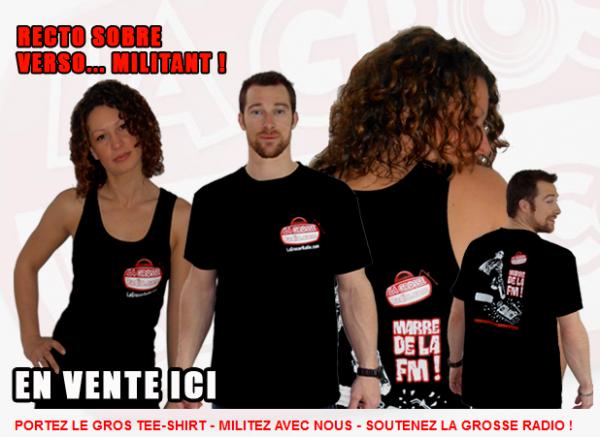 """Tee-shirt """"Marre de la FM !"""""""