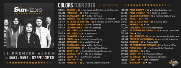 The Sunvizors dates de tournée