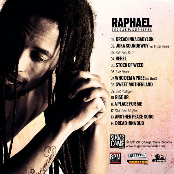 Rapahel, Reggae Survival, Back cover