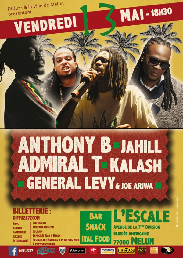 Anthony B, Admiral T & General Levy