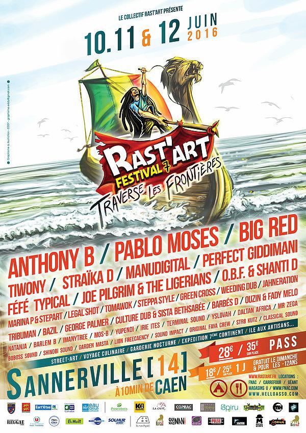 Affiche officielle du Rast'Art Festival #7
