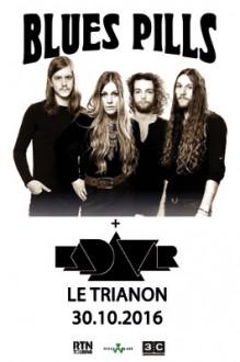 Blues pills, Kadavar, le Trianon, concert, tournée française 2016