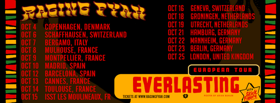 Raging Fyah Tour (Octobre 2016)