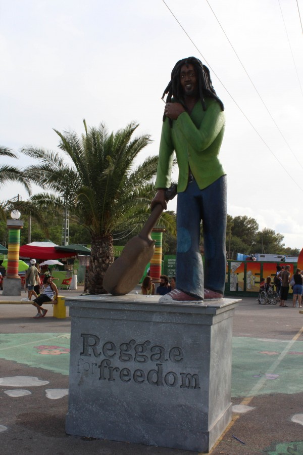 bob marley statue rototom 2016