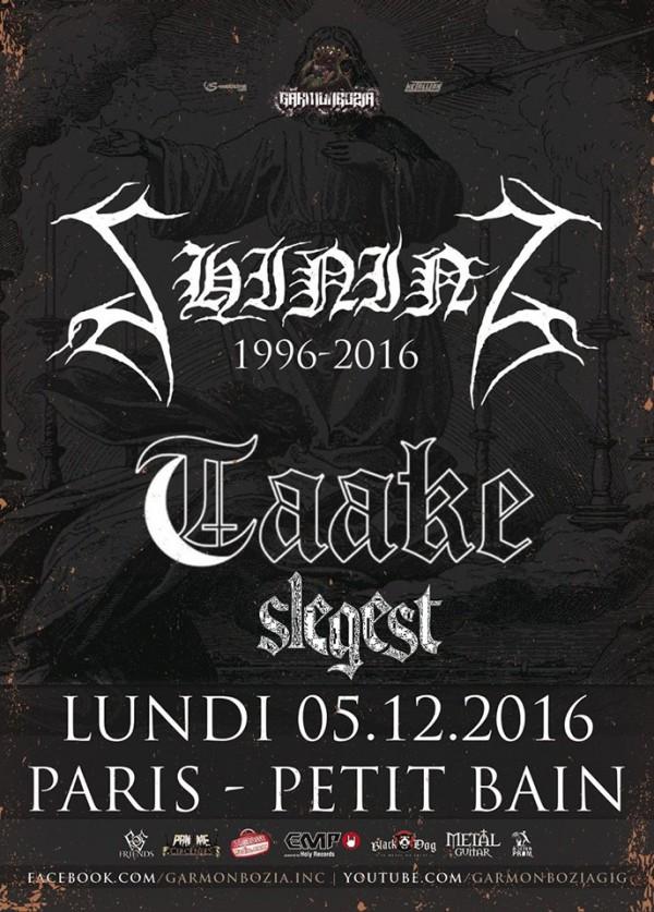shining, taake, black metal, concert, paris, 2016