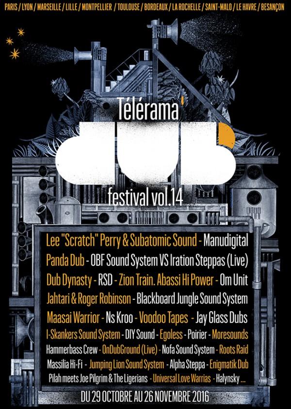 Affiche telerama dub festival 2016
