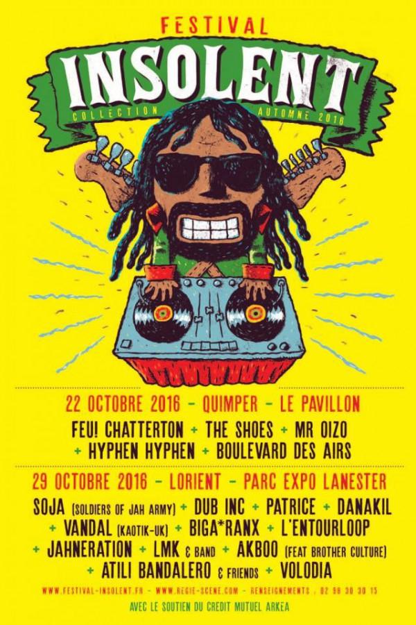 Affiche Festival Insolent Lorient 29/10/2016