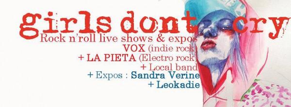 girls don't cry, tournée, éléctro, grunge, slam, groove, La Pieta, Vox Pompidou