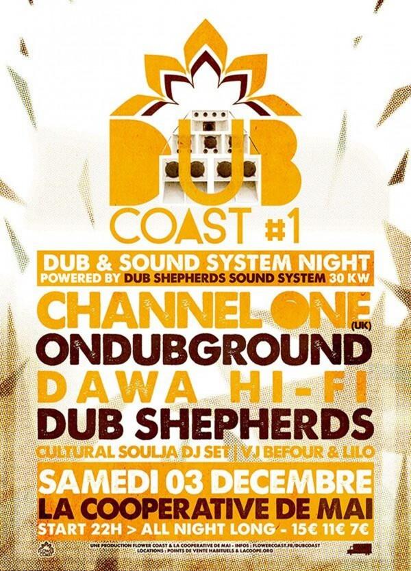 Dub Coast 1, la Coopé, Channel One, Flower Coast, Dub Shepherds