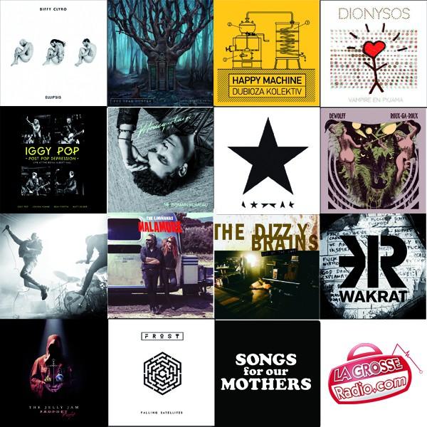 best of, rock, 2016, top, sélection, année musicale