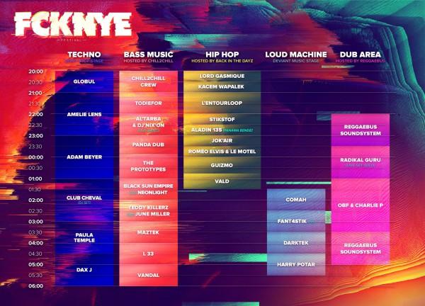 Line Up FCKNYE 2016