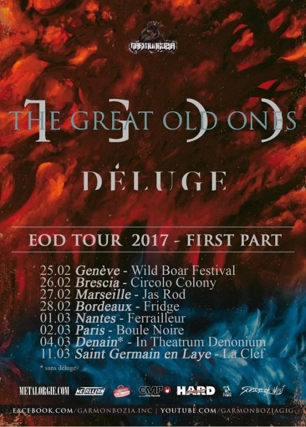 the great old ones, deluge, dark, metal, black, ambiant, atmospherique, france, tournée, 2017