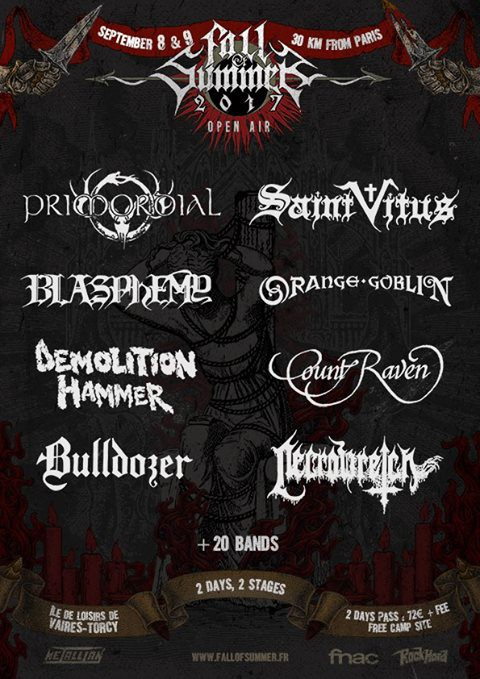 Fall of Summer, 2017, metal, death, doom, thrash, heavy, torcy,