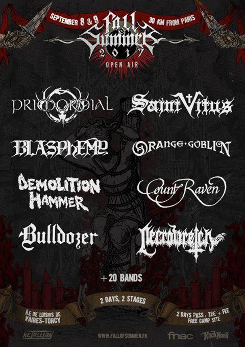 Fall of Summer, 2017, metal, death, doom, thrash, heavy, torcy,