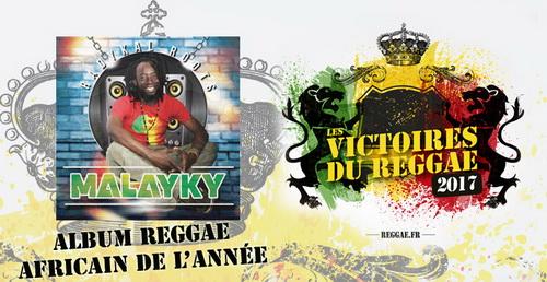 Album Reggae Africain Victoires du Reggae 2017