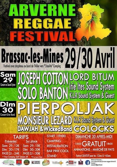 Pierpoljak, Mr Lezard, Colocks, Dawjah, Joseph Cotton Arvergne reggae festival, Brassac