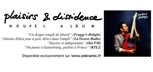 Antoine Zebra, Chanson, Rock, Plaisirs et dissidence, Vidéo, Album 2017