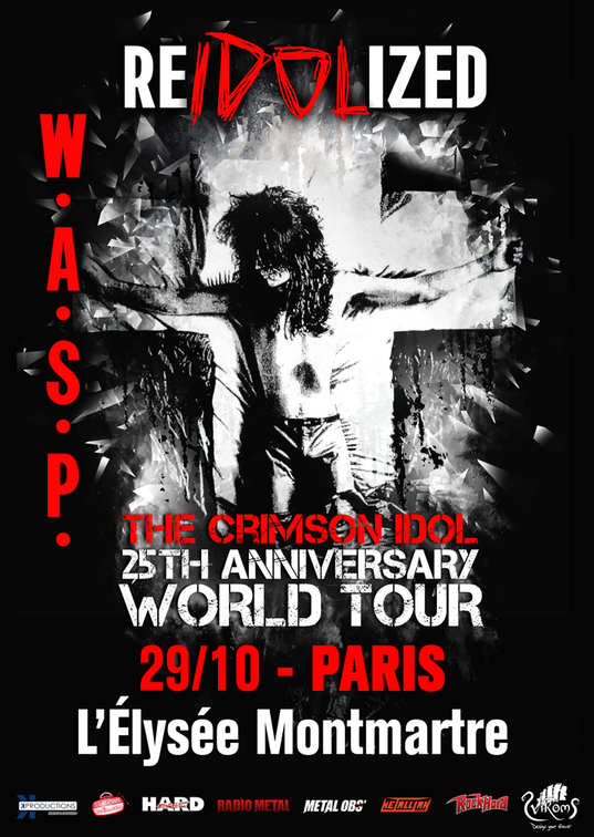wasp, concert, 2017, paris, heavy, the crimson idol