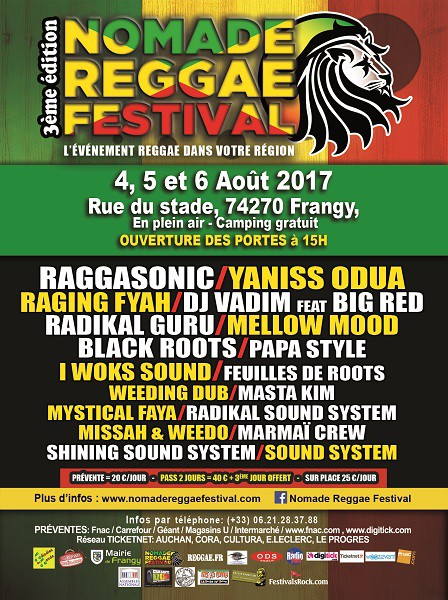 nomade reggae festival, raging fyah, black roots