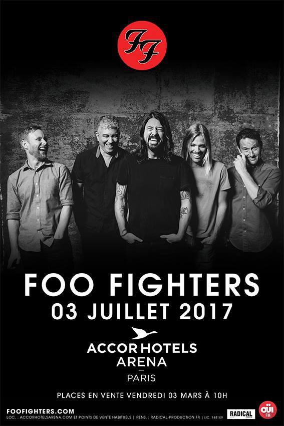 foo fighters, france, concert, paris, accorhotels arena, rock