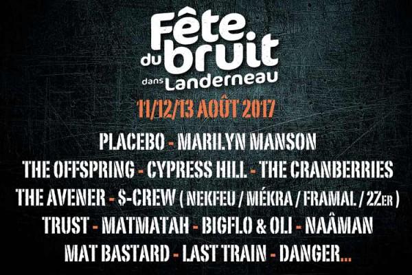 fête du bruit, matmatah, placebo, news, festival