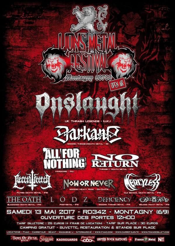 Lions Metal Fest affiche