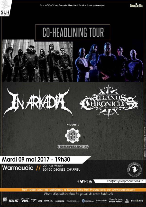 in arkadia, atlantis chronicles, death metal, tournée, 2017, Lyon, concert, live