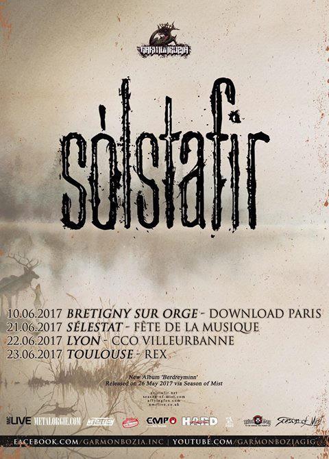 Solstafir live affiche