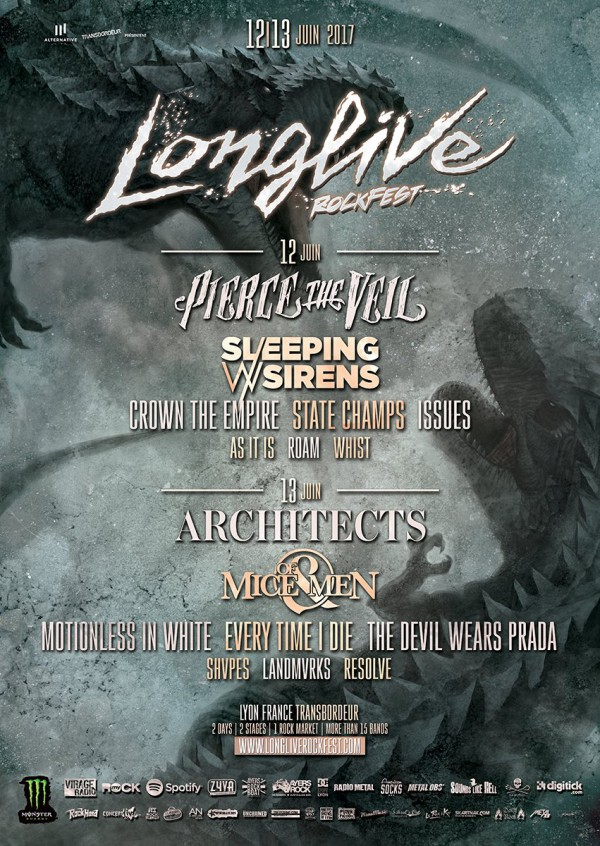 soirée, paris, Architects, state champs, motionless in white, of mice & men, as it is, alternative live,