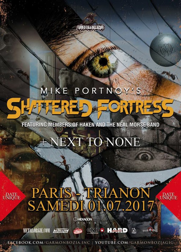 Mike Portnoy, Dream Theater, Shattered Fortress, Trianon, metal prog, Garmonbozia