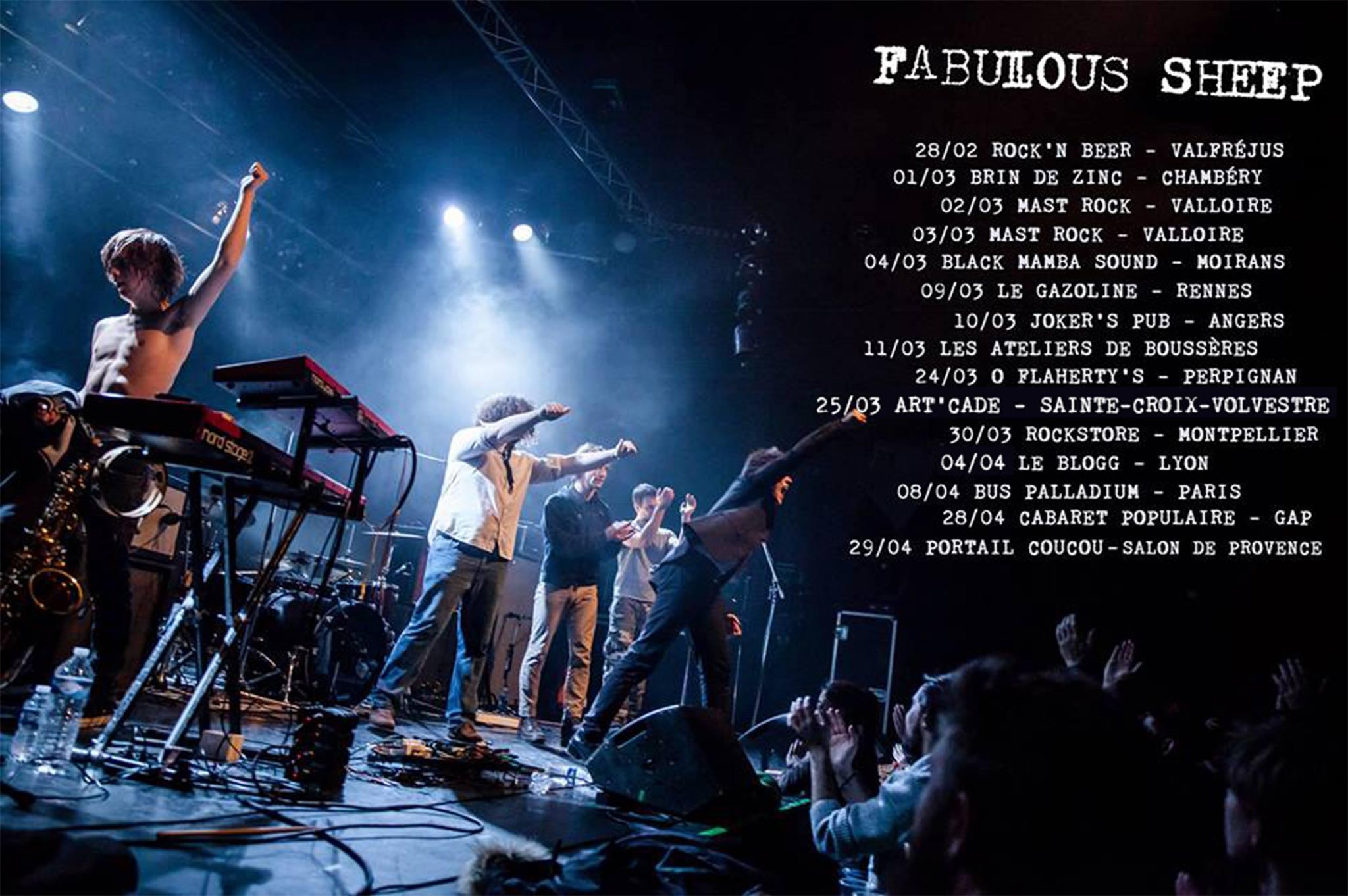 Fabulous sheep, tournée, concert, bus palladium