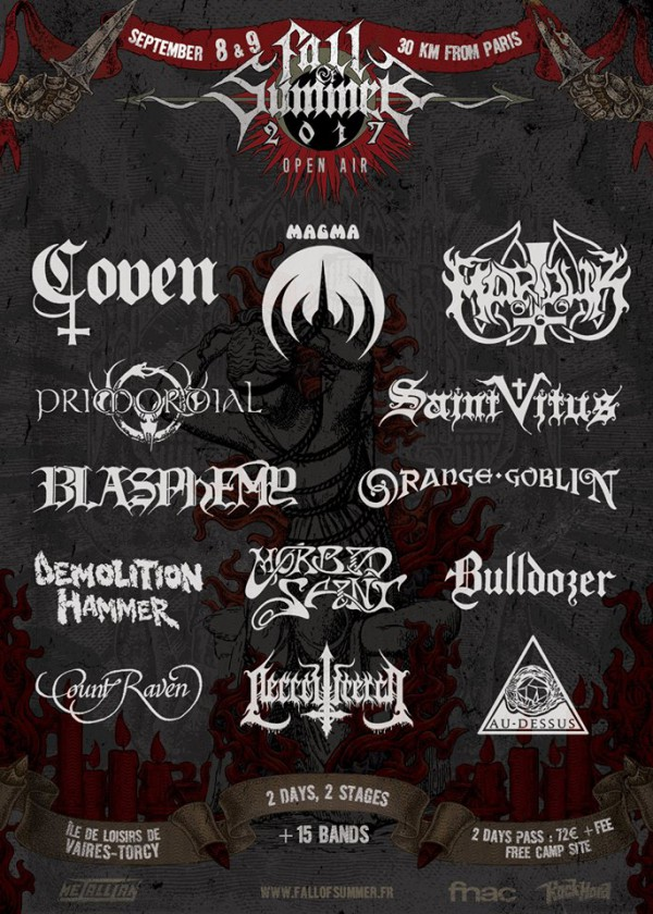 fall of summer, torcy, black metal, doom, festival, annonce, 2017