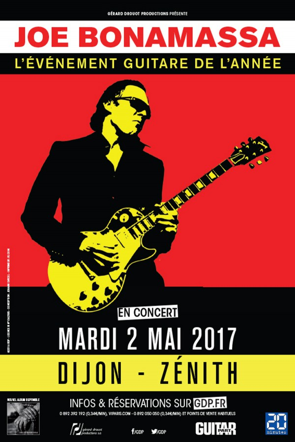 joe bonamassa, dijon, concert, tournée, blues, rock