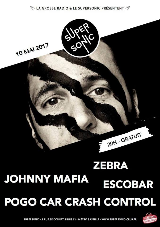 pogo car crash control, johnny mafia, zebra, supersonic, concert, punk, garage, grunge, la tournée